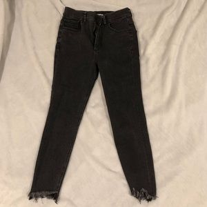 EXPRESS High Waisted Denim Ankle Jeans  SIZE 4S